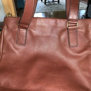 FOSSIL Genuine leather expandable tote bag